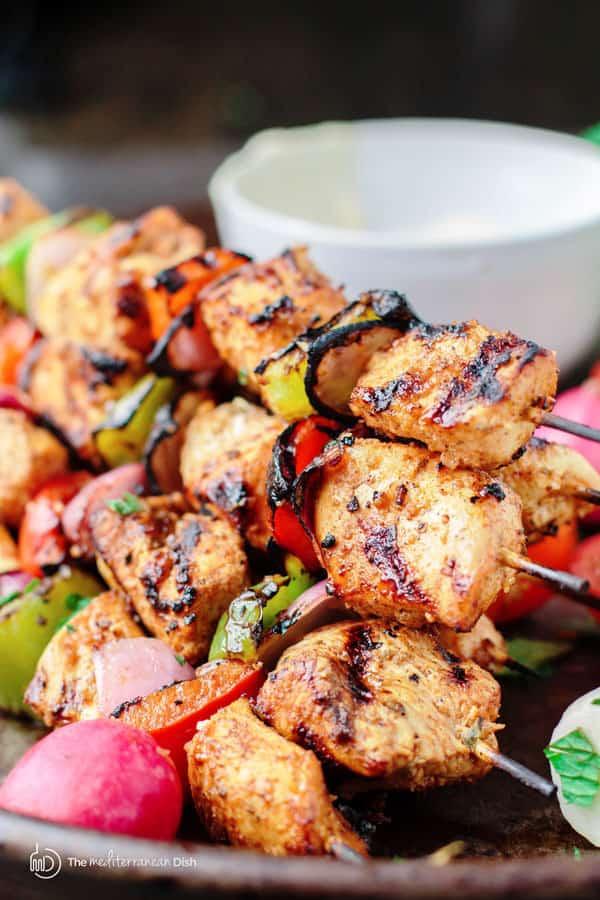 Mediterranean Grilled Chicken Kabobs | The Mediterranean Dish
