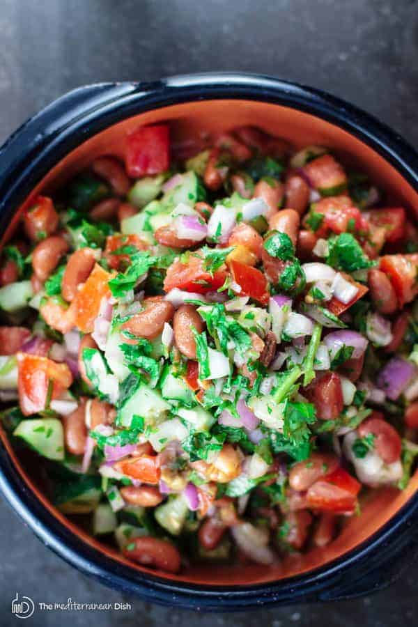"this salad, ""incredible!"" A simple and tasty salad of kidney beans ..."