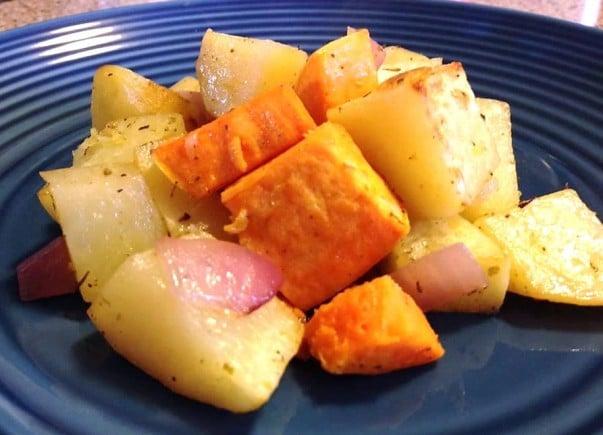 Roasted Potatoe and Yam