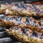 Kofta kebabs on grill