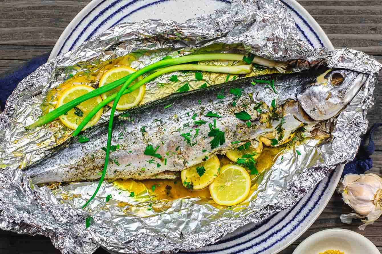 Mediterranean Oven Roasted Spanish Mackerel Recipe The