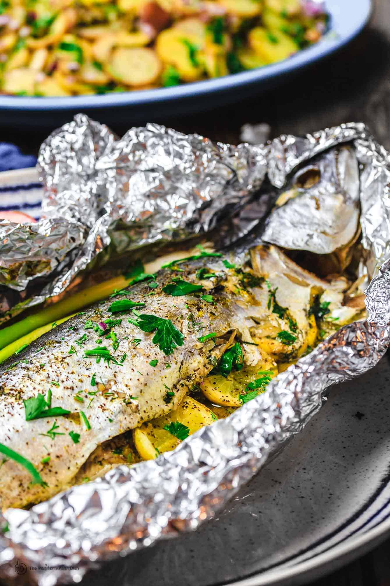 Mediterranean oven roasted spanish mackerel recipe the for Fish in oven