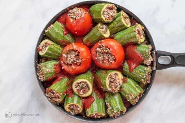 Middle Eastern Stuffed Zucchini The Mediterranean Dish