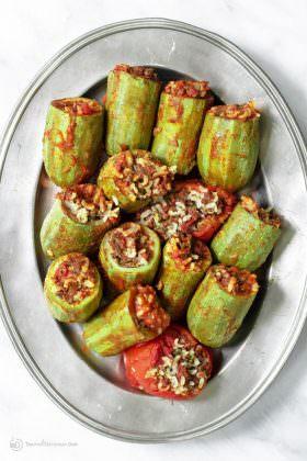 Middle Eastern Stuffed Zucchini Recipe