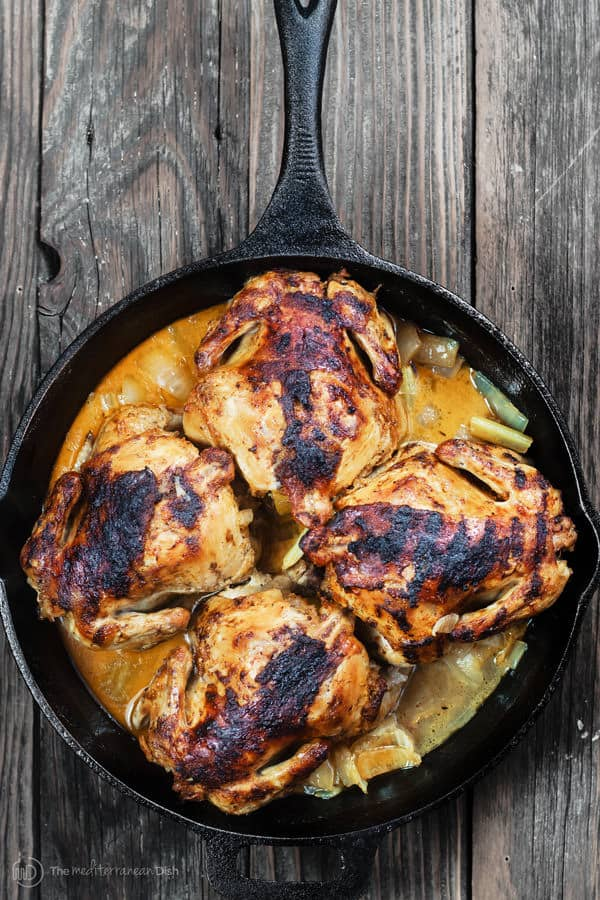 Cornish Hen Recipe with a Mediterranean Garlic Spice Rub