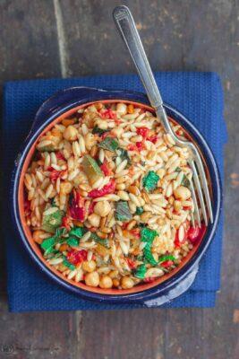 Vegetarian Orzo Bowl
