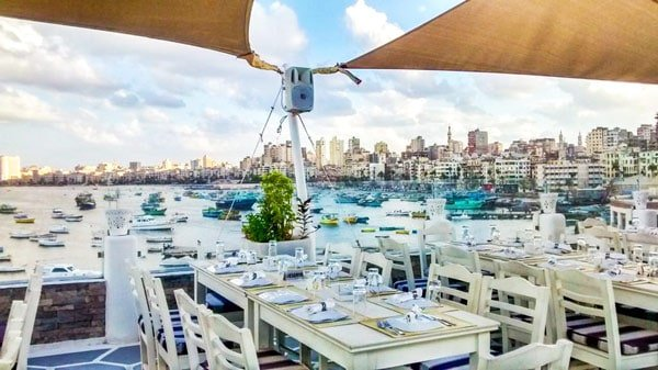 Alexandria restaurant by the Mediterranean