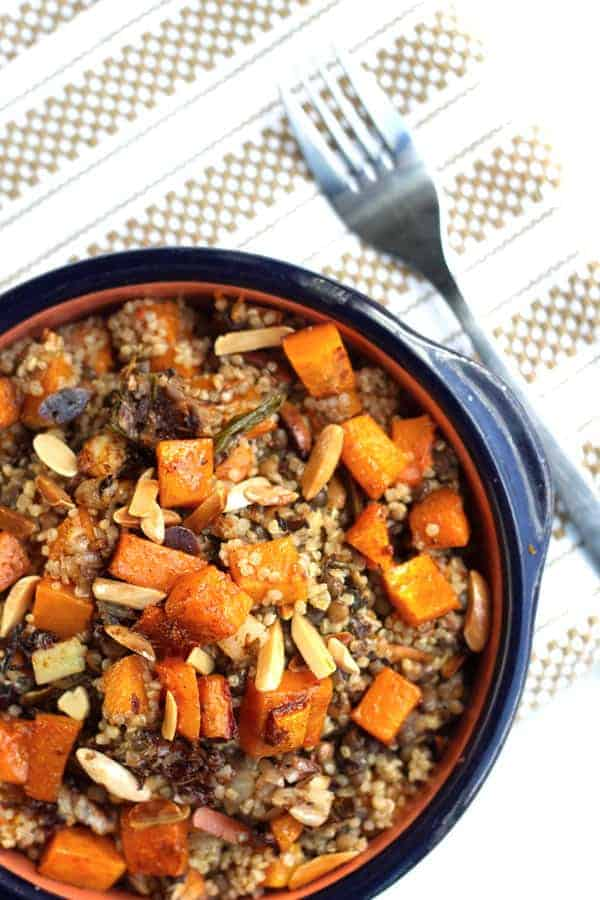 Easy Butternut Squash Recipe with Lentils and Quinoa