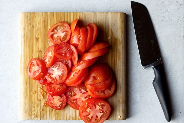 Tomatoes cut into slices