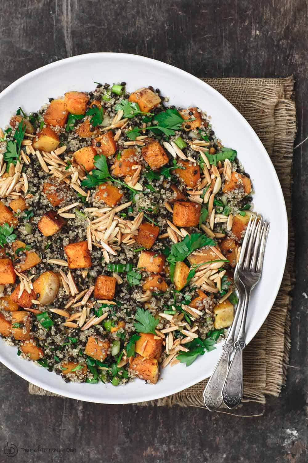 Easy Butternut Squash Recipe With Lentils And Quinoa The Mediterranean Dish