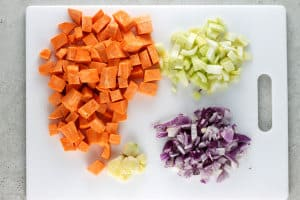 Ingredients for Curried Red Lentil and Sweet Potato Soup Recipe