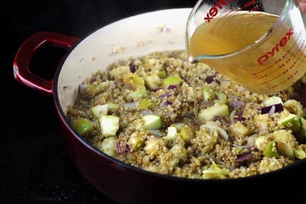 Add vegetable broth