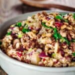 Freekeh Recipe Stuffing with Cranberry and Apples