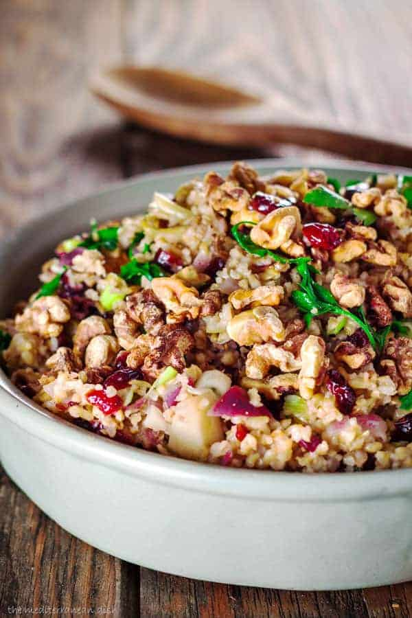 Cranberry Apple Freekeh Stuffing