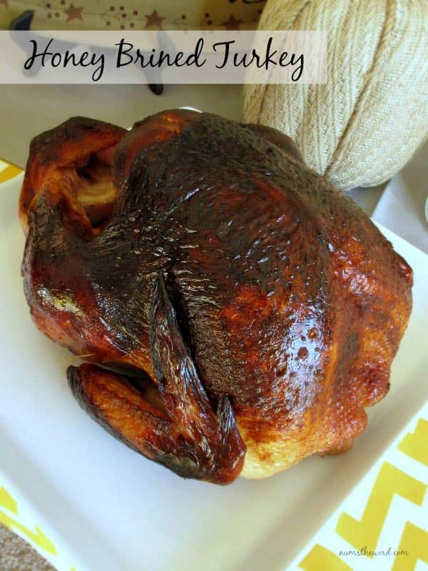 Thanksgiving Recipes Honey Brined Turkey from Nums The Word