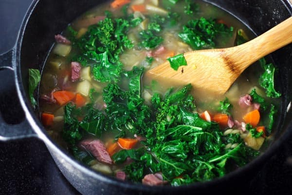 Leftover Turkey Orzo Soup l The Mediterranean Dish