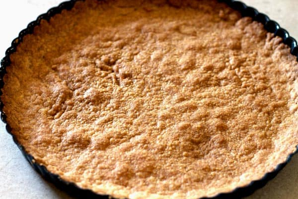 Cooked Crust in baking pie dish