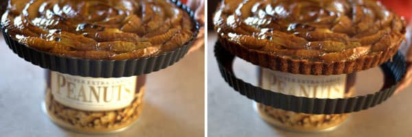 Removing pie ring from pie