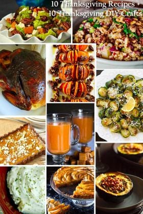 Feast-Worthy: 10 Thanksgiving Recipes + 10 Thanksgiving DIY Crafts