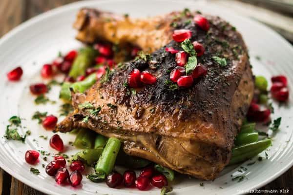 Pomegranate chicken thigh recipe from The Mediterranean Dish