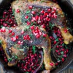 Pomegranate chicken thigh recipe from The Mediterranean Dish