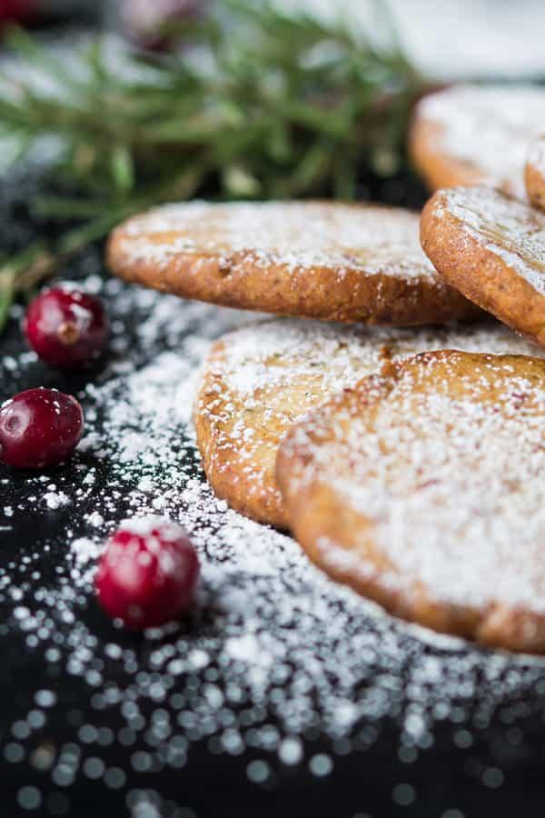Cranberry Parmesan Shortbread Cookies