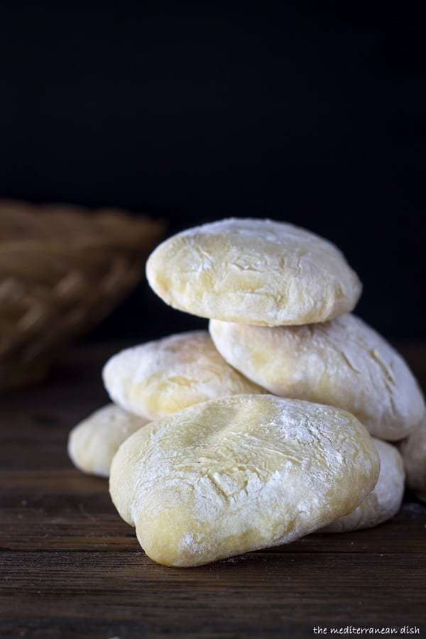 Homemade Pita Bread Recipe from The Mediterranean Dish