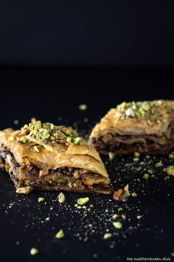 Baklava Recipe. Part of 21 Mediterranean Christmas Brunch Recipes | The Mediterranean Dish #christmasbrunch #mediterraneanrecipes #brunchrecipes