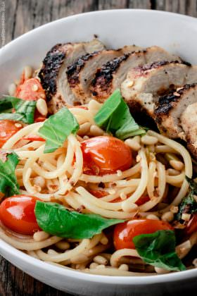 Blackened Chicken and Spaghetti Recipe with Tomato-Basil Wine Sauce
