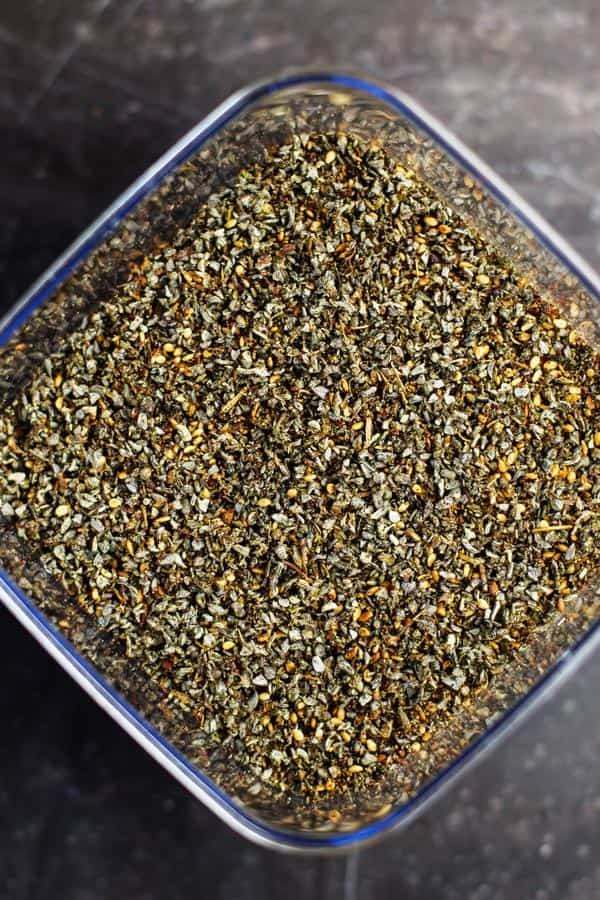 Za'atar spice mix from The Mediterranean Dish