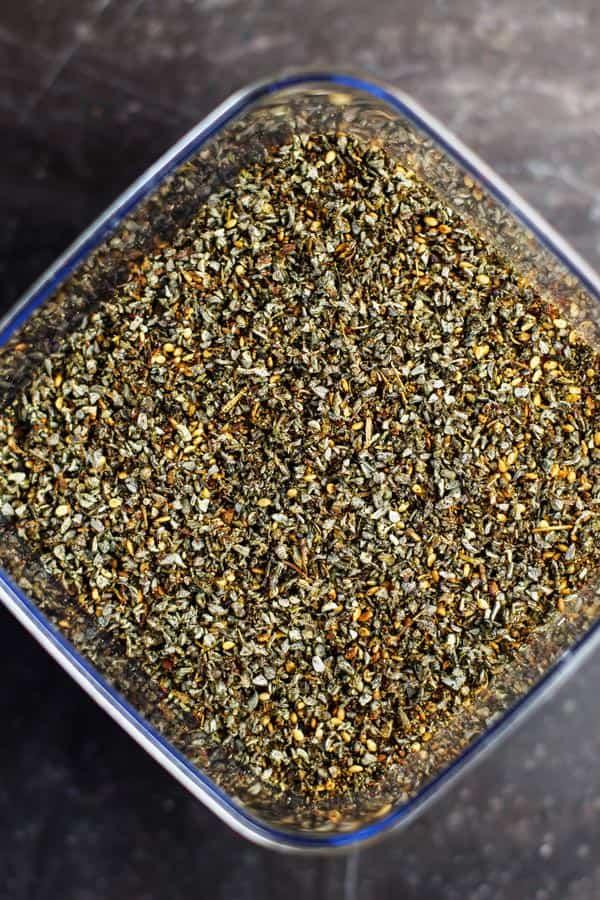 Za'atar spice mix from The Mediterranean Dish