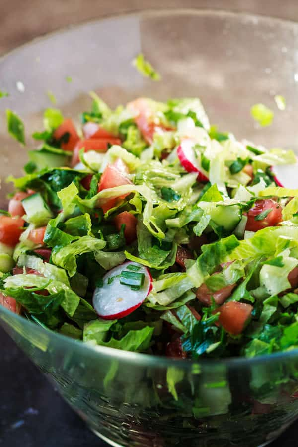 Salad mix for Mediterranean Fattoush Salad Recipe