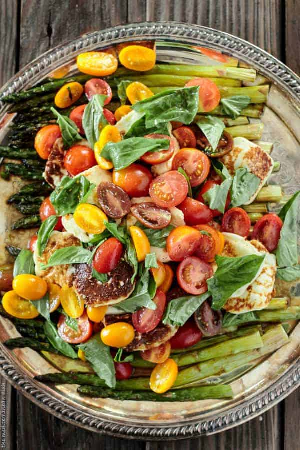 Top 10 Mediterranean Salad Recipes: Fried halloumi cheese and asparagus salad |The Mediterranean Dish