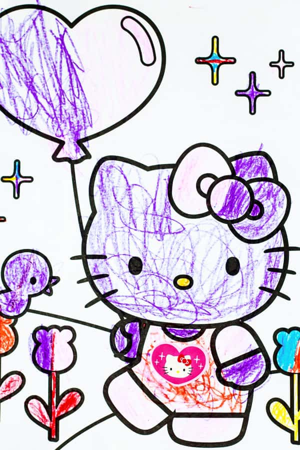 Hello Kitty drawing from my six month blogging update from The Mediterranean Dish