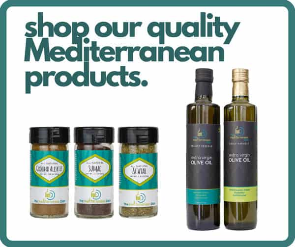 Mediterranean Dish's spices and olive oils