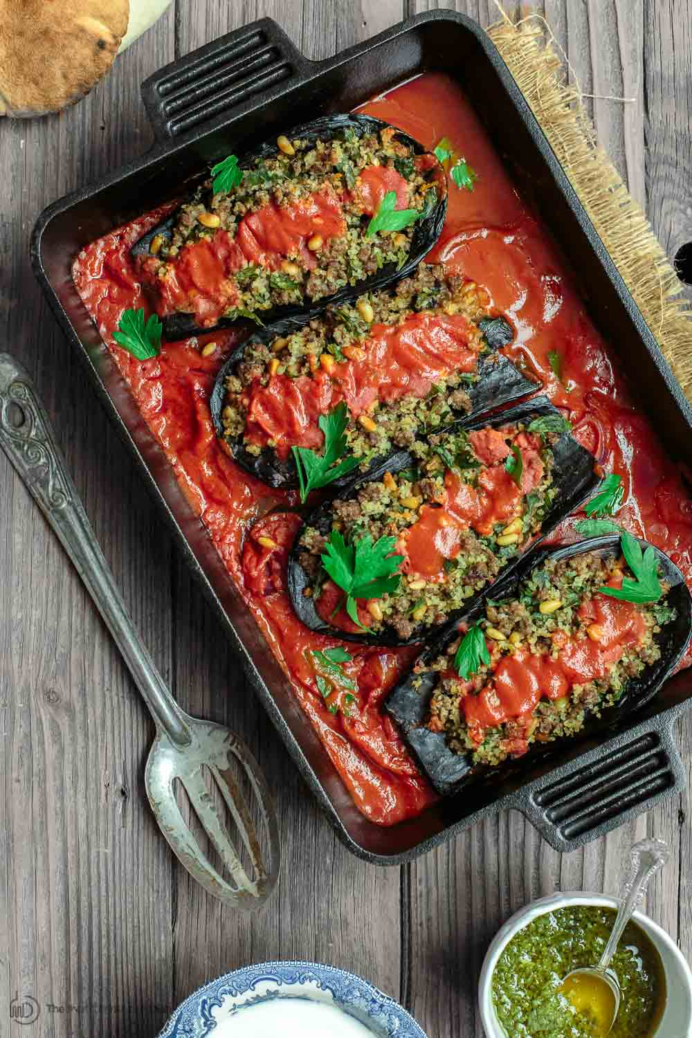 Stuffed eggplant with ground beef the mediterranean dish mediterranean stuffed eggplant recipe the mediterranean dish this is a must try all forumfinder