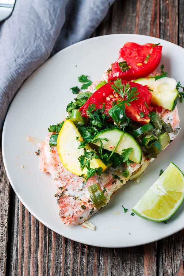 Mediterranean-style Oven Baked Salmon in Foil | The Mediterranean Dish ...