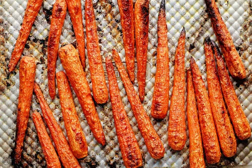 Oven roasted carrots for carrot soup