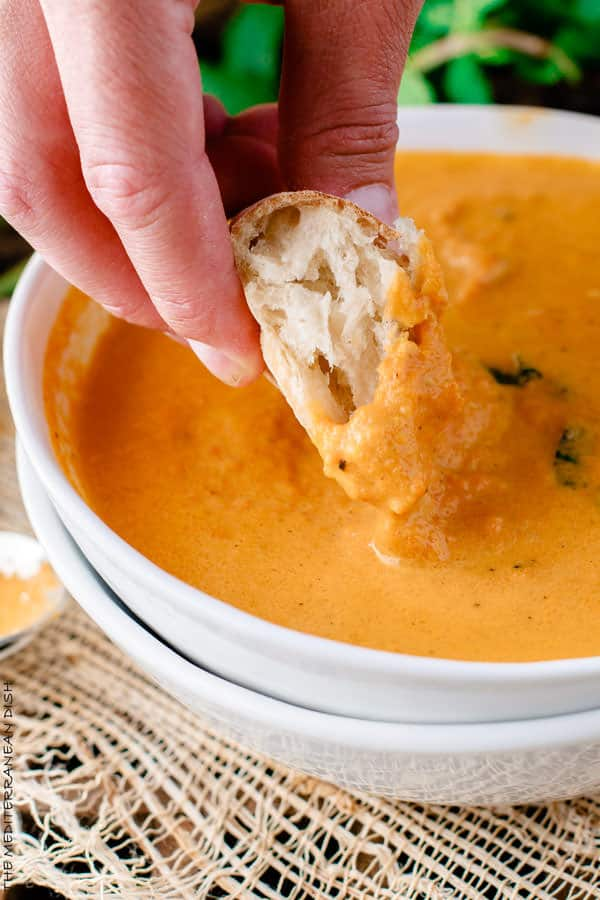 Roasted Carrot Ginger Soup | The Mediterranean Dish. Flavor-packed ...
