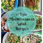 11 Epic Mediterranean Salad Recipes | The Mediterranean Dish. Easy salad recipes loaded with Mediterranean flavors and great ingredients. Perfect for any night of the week, summer picnics and more. Tabouli, fattoush, potato salad, chikpea salad, and more! from themediterraneandish.com #salad #chickpeasalad #tabouli #mediterraneansalad #greeksalad #balela #tunasalad #ptoatsalad