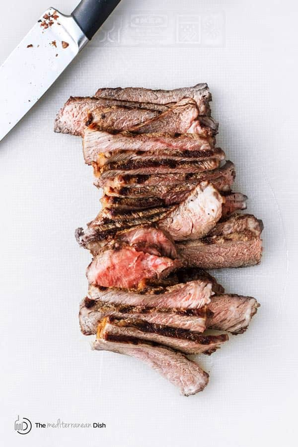Cooked Steak cut into slices