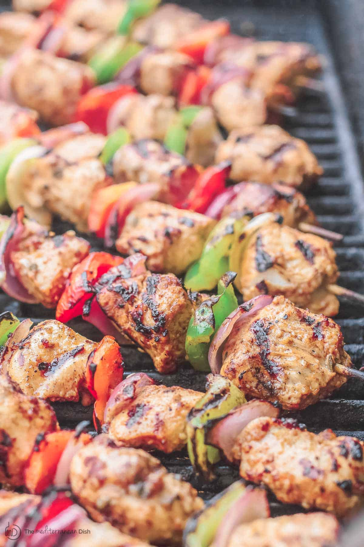Mediterranean Grilled Chicken Kabobs (with Video)   Mediterranean Grilled Chicken Kabobs with Tahini Sauce 106