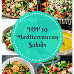 Top 10 Mediterranean Salads   The Mediterranean Dish. There is something for everyone on this list of top 10 Mediterranean salads. Easy step-by-step photos will guide you through salads like fattoush, Israeli couscous salad, kidney bean and cilantro salad and more!