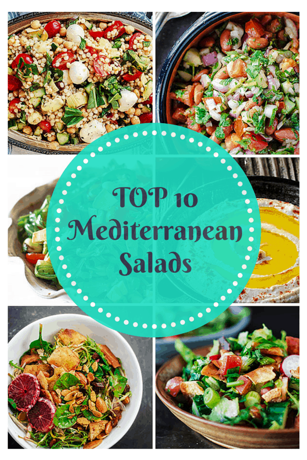 Top 10 Mediterranean Salads | The Mediterranean Dish. There is something for everyone on this list of top 10 Mediterranean salads. Easy step-by-step photos will guide you through salads like fattoush, Israeli couscous salad, kidney bean and cilantro salad and more!