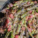 Mediterranean One Skillet Okra and Tomato Recipe   The Mediterranean Dish. Okra and tomatoes with garlic, onions, sumac and crushed red peppers. Garnish with toasted pine nuts and crushed mint. Out of this world! Easy. Vegan. Gluten Free. Get the step-by-step today.