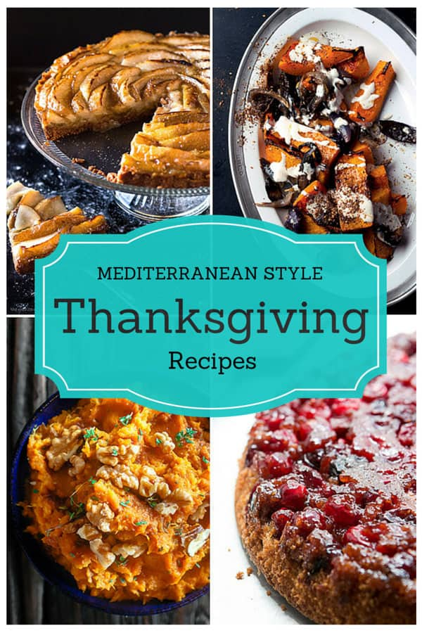 Mediterranean Style Thanksgiving Recipes | The Mediterranean Dish. Looking for a new spin on Thanksgiving classics? This is a great roundup of easy Mediterranean style Thanksgiving recipes that your family will love. From The Mediterranean Dish, David Lebovitz, Yotam Ottolenghi and more!