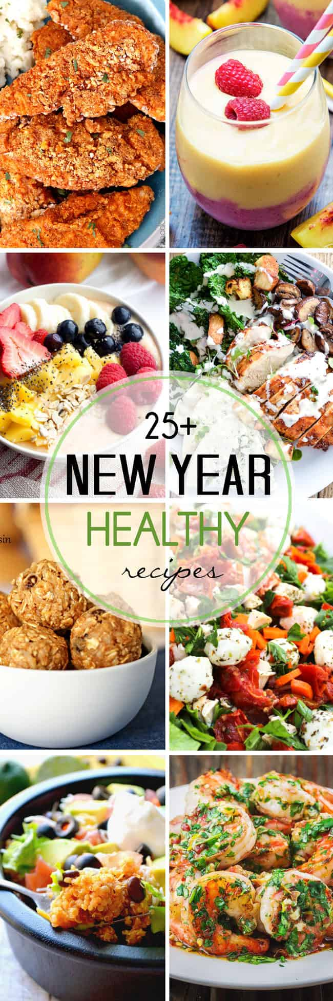 More than 25 Healthy Recipes for the New Year | The Mediterranean Dish. Top healthy recipe ideas from around the web! Don't give up things you like, we'll show you how to cook them differently. Check out this list of recipes today!