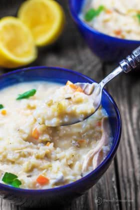 Avgolemono Soup Recipe (Greek Lemon Chicken Soup)