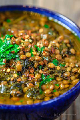 Mediterranean Spicy Spinach Lentil Soup