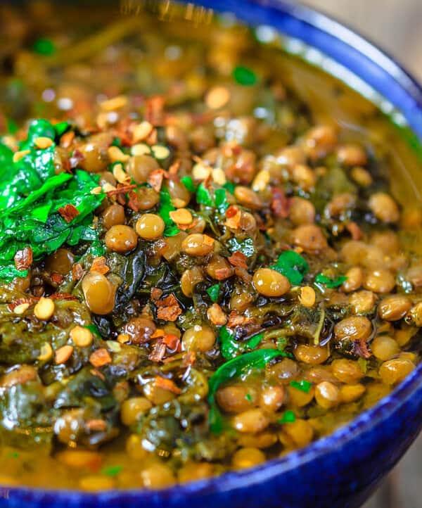 black lentil soup